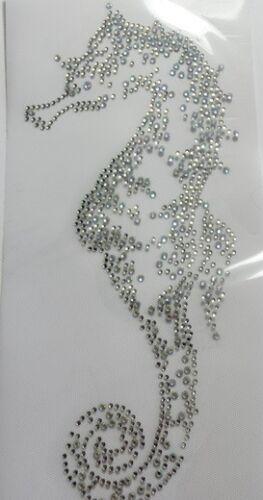 Crystal 110623 karostonebox HotFix pedrería vidrio perchas imagen caballito de mar en a partir de