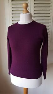 uk Cashmere Autograph Flecked 6 Plum Maglione girocollo Marks Spencer Bnwt wZqgp81q