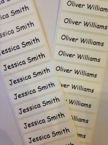 50 Peel /& Stick Printed Property Name Labels//Tapes//Tags School  INC POSTAGE