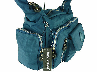 Damen Nylon Tasche Schultertasche Handtasche Umhängetasche Stofftasche bag 2418