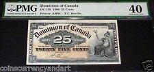 1900 DOMINION OF CANADA 25 CENT BOVILLE PMG40