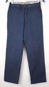 GANESH Women Striped Straight Leg Chino Trousers Size W28 L28 AOZ209