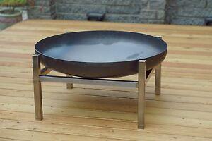 Design-Feuerschale//Feuerkorb CUBE massiver Stahl Gr M Ø 63 cm von SvenskaV NEU