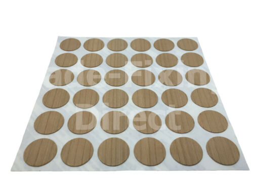 FastCap Self Adhesive Real Wood Cover Caps KwickCaps 18mmø Trade-Fixings Direct