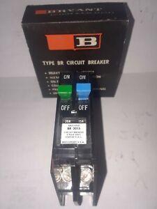 BRYANT TYPE BR 15 AMP 120 VOLT  BREAKER Nice Condition