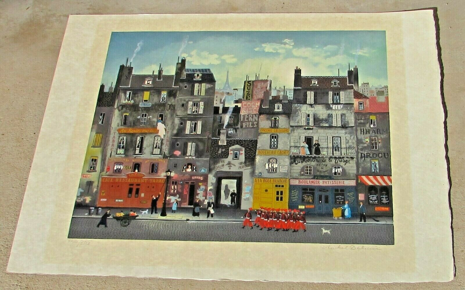 MICHEL DELACROIX Marching Soldiers S/N Lithograph 28/125 on wove paper on eBay thumbnail