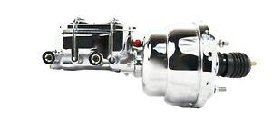 "7/"" Chrome Street Rat Rod Brake Booster Master Cylinder"
