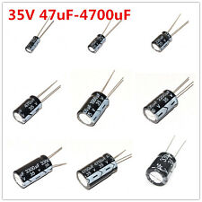 20Pcs 35V 47-4700uF 100 220 470 1000 2200 330 3300 UF Electrolytic Capacitor