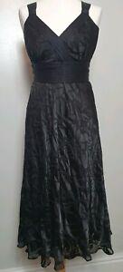 Monsoon-Silk-Black-Midi-Dress-UK-Size-8-Sequin-detailing-with-belt