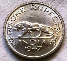 ★British India,One Rupee 1,KG VI,Rare Coin of 1947,Last Rupee Coin of British ★