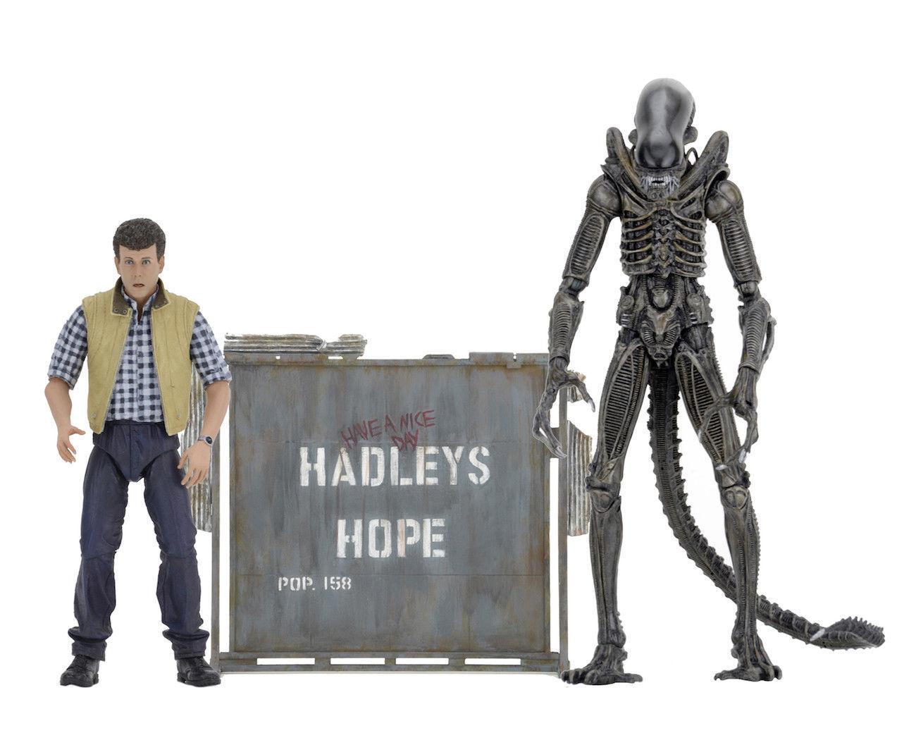 Alien Warrior Xenomorph Xenomorph Xenomorph & Carter J. Burke Aliens Hadleys Hope Action Figure NECA 349aca