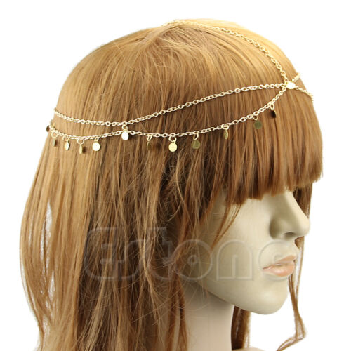 Retro Bohemian Gypsy Dance Tassel Metal Head Chain Headpiece Hair Band Headband