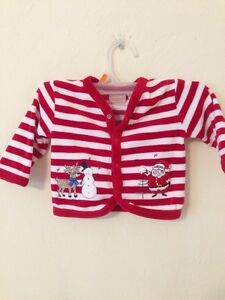 Baby's Snap Button Down Shirt Size 3-6 Months By First Moments Newborn Christmas