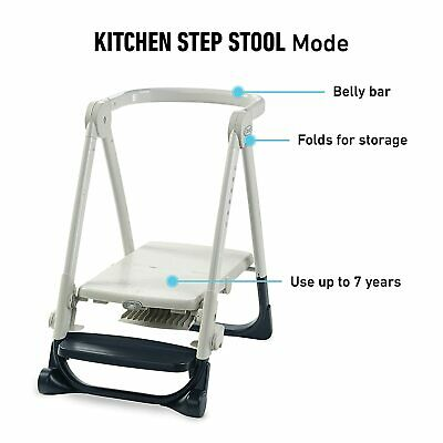 and More Converts to Step Stool for Kids Graco EveryStep 7 in 1 High Chair Dining Booster Seat Leyton