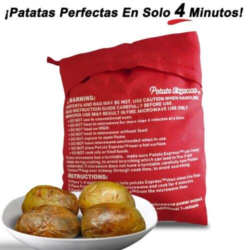 BOLSA DE ASAR PATATAS COCINAR 4 MINUTOS MICROONDAS AL VAPOR POTATO EXPRESS CASA