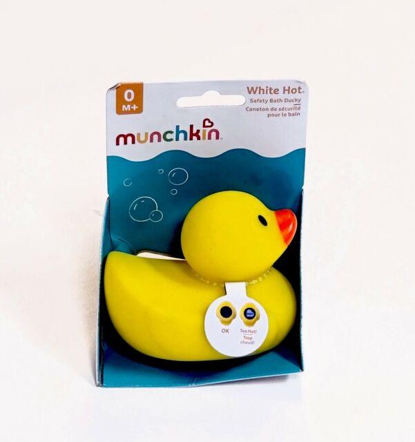 Munchkin Safety Bath Yellow Duck w/ White Hot Alert 0M+ Ducky Baby Shower Gift