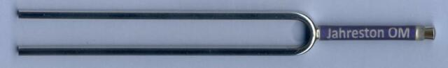 Planeten-Stimmgabeln Typ  Blue Line  von Kosmoton  mit handgefertigtem Stielende