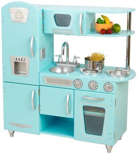 kidkraft blue vintage kitchen play set 53227 ebay rh ebay com Walmart KidKraft Kitchen Set KidKraft's Old Kitchen