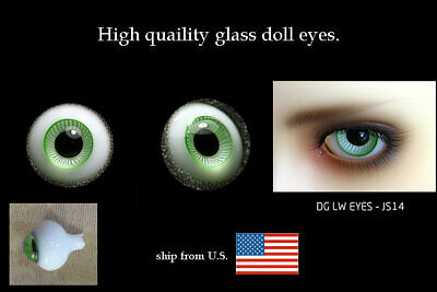 14mm bright blue high quality glass bjd doll eyes dollfie iplehouse M-28 shipUS