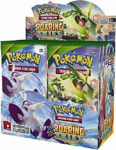 XY Roaring Skies 12 Booster Pack Lot 1//3 Booster Box POKEMON Trading Cards