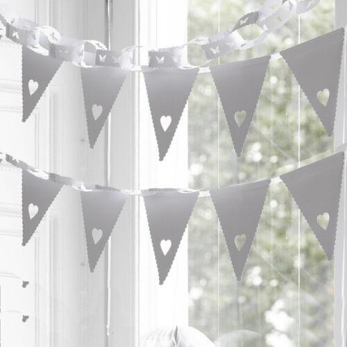 Guirlande herzgirlande mariage 3m 16 fanion raumdekoration guirlandes bannières coeur
