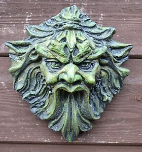 Image Is Loading Green Man Wall Plaque 034 Demon 034 Green