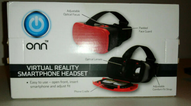 Onn Virtual Reality Smartphone Headset Ona17vr004 Red For Sale Online Ebay