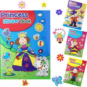Livre de coloriage enfants autocollants couleur A4 Jeu Amusant Activité Art Craft apprendre  </span>