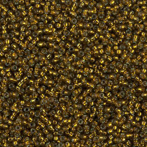 replanterons Vert 5 g = 1 tubes Miyuki rocaille 15//0 Rond 1,5 mm Vert Olive