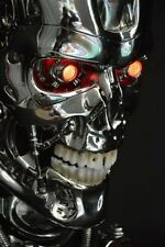 LED 1:1 Terminator T800 Skull Endoskeleton Lift-Size Bust Resin Statue New