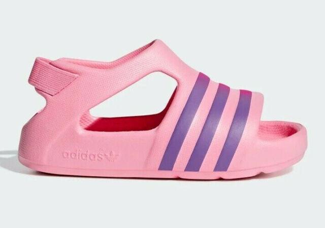 New Adidas Originals Adilette Play Infant Toddler Girls Slides Sandals US 5 6 9