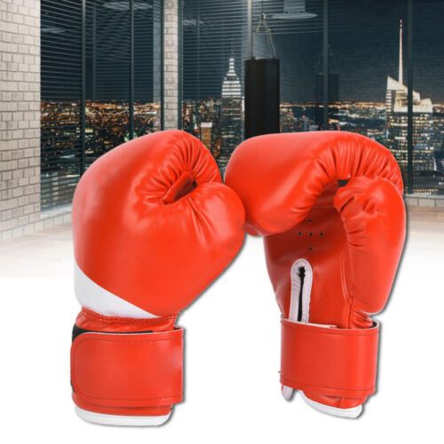 Kids Boxing Gloves Children Punching MMA Sparring Training PU Gloves 3-10 Age