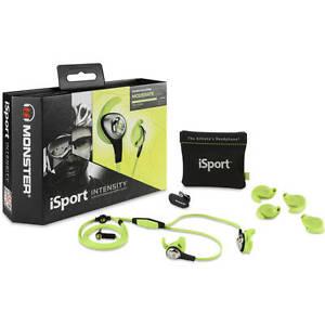 Monster-iSport-Intensity-In-Ear-Headphones-Green-Brand-New-in-Sealed-Box