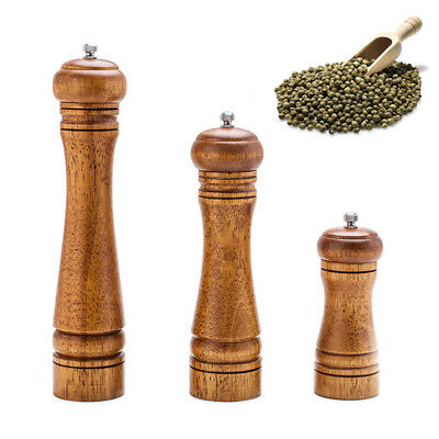 Kitchen tools cooking Salt And Pepper Grinder Hand Movement Oak Wood Pepper Mill