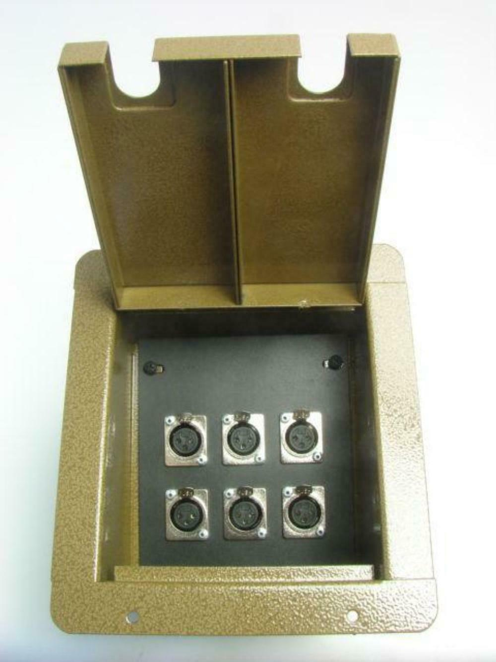 ProCraft Pro Audio Recessed Stage Floor Pocket Box 6 XLR   Channel Bronze Hammer