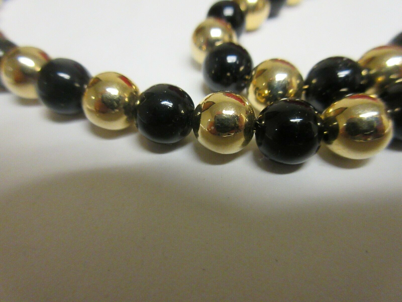 "Costume Jewelry , NECKLACE , Black/Gold , 24"" , KOREA"