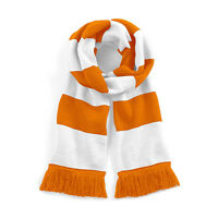 Orange & White FC Traditional Retro Football Bar Scarf - Blackpool FC Colours