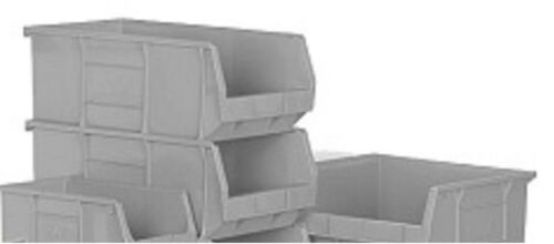 SIZE 106x106x49mm NEW STRONG PLASTIC STORAGE STACKING PARTS PICKING BINS BOXES