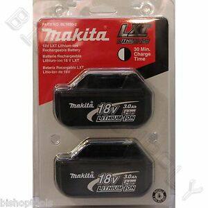 2pc genuine makita bl1830 18v lxt lithium ion battery pack. Black Bedroom Furniture Sets. Home Design Ideas
