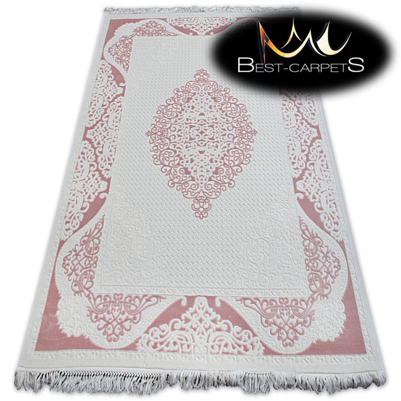 Soft Acrilico TAPPETI  Mirada  rosa Cornice spessa e densamente intrecciate di qualità