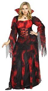 Vampire Countessa Vampiress Dress Adult Womens Female Costume Plus Size NEW