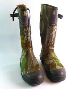 "Scent Free 16"" Rubber Lined Camo Swampwalker Boots Men Size 9"