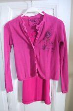 CHIPIE 2tlg. Set Kleid Sweatkleid Strickjacke Strick Pink Gr. 10 / 140 (G147)