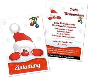 Weihnachtsfeier Lustig.Details Zu Einladungskarte Weihnachtsfeier Lustig Nikolaus Witzig Für Alle Mit Wunschtext