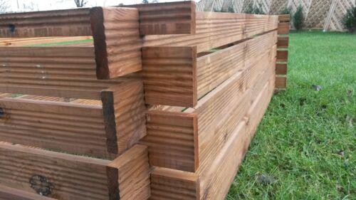 Stabiler Holzkomposter Kompostbehälter Komposter imprägniert Hochbeet 170 x 85cm