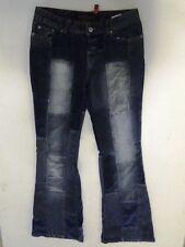 Fishbone  Jeans Hose Schlaghose Dunkelblau Stonewashed W30 L34