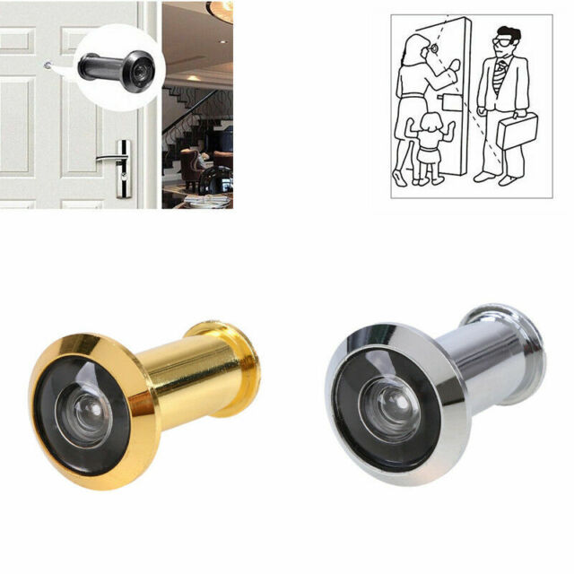 New Metal 200Degree Door Viewer Peephole Silver Tone for Home