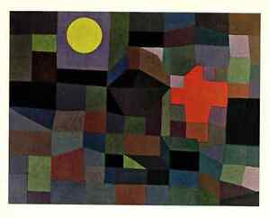 Poster Paul Klee Fire at Full Moon