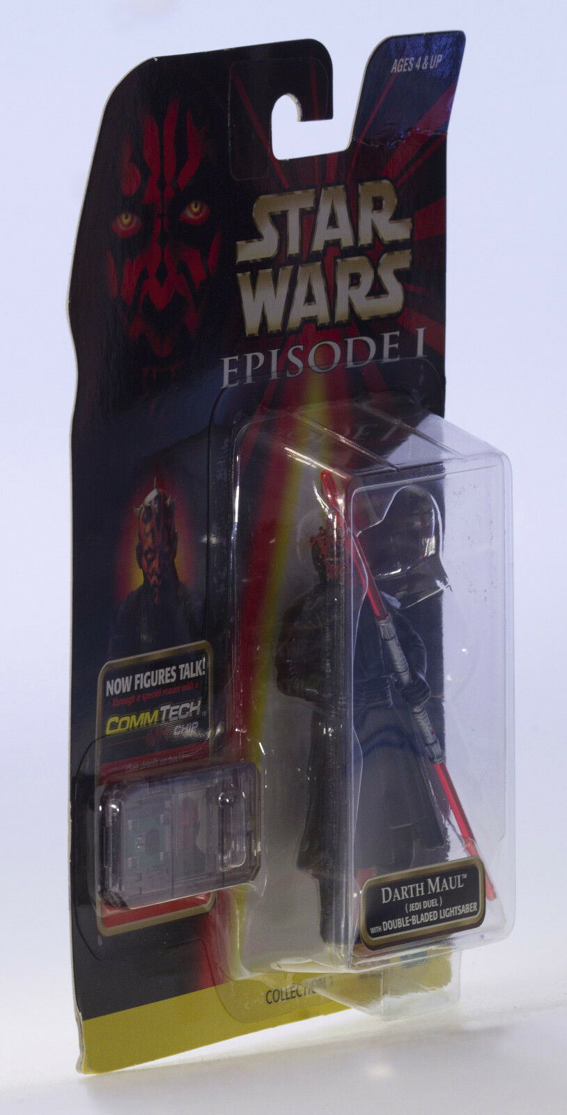MOC STAR WARS Darth Maul Jedi Duel Rare Version Version Version Episode 1 CommTech Chip Figure 153cc6
