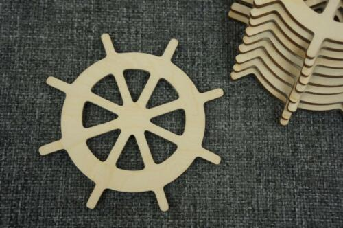 Schiff Lenkrad Ruder Holz Basteln Meer Verschönerung Wasserwelt //PV57// * 10 Stk
